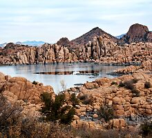 Winter Granite Dells Prescott Arizona by Lee Craig