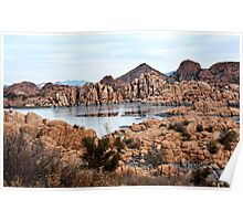 Winter Granite Dells Prescott Arizona Poster