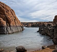 Granite Dells Winter at Prescott Arizona by Lee Craig