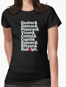 The 9 Reindeer Womens Fitted T-Shirt