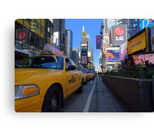Taxi View Canvas Print