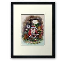 Father Frost in the summer Framed Print