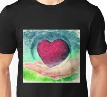 ART TO HEART 50% of profits goes to Relief For Japan http://donate-japan.com/ Unisex T-Shirt