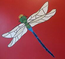 Painted Dragonfly by ArtfullHeart9