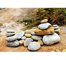 Zen Rocks Photographic Print