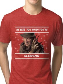 Have yourself a very Freddy Christmas Tri-blend T-Shirt