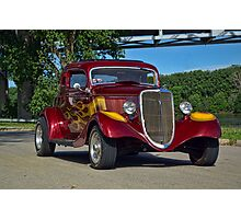 1934 Ford 3 Window Coupe Photographic Print