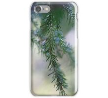 Blur of pine trees close up iPhone Case/Skin