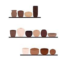 Shelves of Bowls by Janesart