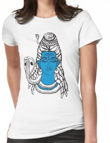 LORD SHIVA, YOGIN GOD Womens Fitted T-Shirt