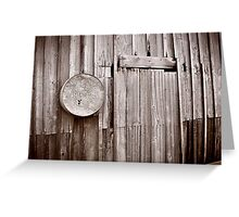barndoor Greeting Card