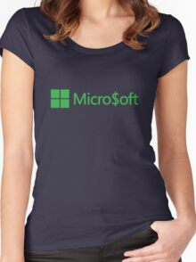 Micro$oft (parody) Women's Fitted Scoop T-Shirt