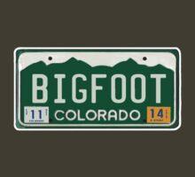Bigfoot Colorado License Plate  by thebigfootstore