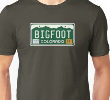 Bigfoot Colorado License Plate  Unisex T-Shirt