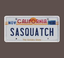 California Sasquatch License Plate  by thebigfootstore