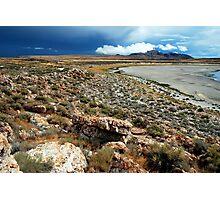Antelope Island: Storm Coming Photographic Print