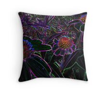 3 glowing daises Throw Pillow