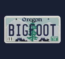 Oregon Bigfoot License Plate  by thebigfootstore