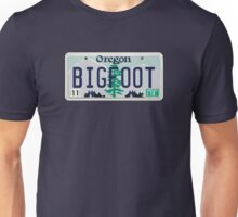 Oregon Bigfoot License Plate  Unisex T-Shirt