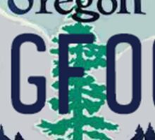 Oregon Bigfoot License Plate  Sticker