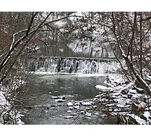 Winter Falls Photographic Print