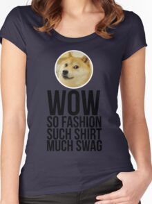Wow. Such offer. So cool. Women's Fitted Scoop T-Shirt