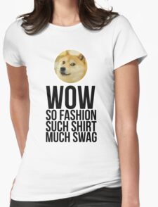 Wow. Such offer. So cool. Womens Fitted T-Shirt
