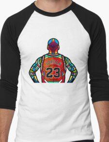 Michael Jordan - Stained Glass Men's Baseball ¾ T-Shirt