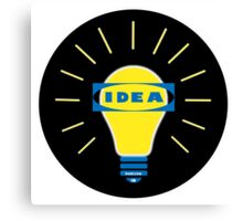 Bright IDEA parody logo for IKEA Canvas Print