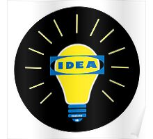 Bright IDEA parody logo for IKEA Poster