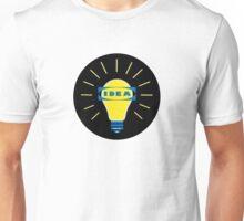 Bright IDEA parody logo for IKEA Unisex T-Shirt