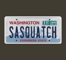 Washington Sasquatch License Plate  by thebigfootstore