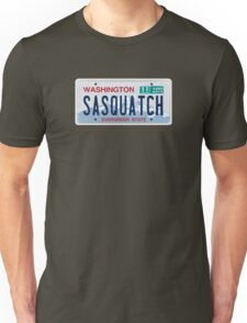Washington Sasquatch License Plate  Unisex T-Shirt