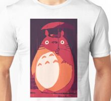 Totoro in the rain Unisex T-Shirt