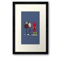 Funny flash Framed Print
