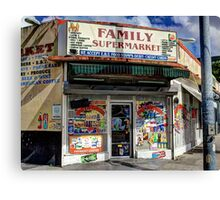 Family Supermarket Canvas Print