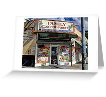 Family Supermarket Greeting Card