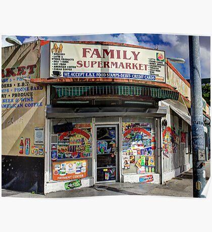 Family Supermarket Poster