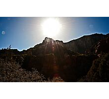 Sedona Glow and Light at Oak Creek Photographic Print