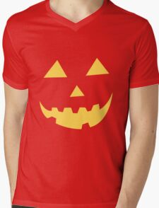 Jack O Lantern Mens V-Neck T-Shirt