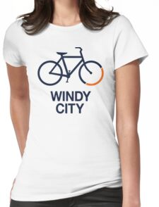 Bike Windy City (v1) Womens Fitted T-Shirt