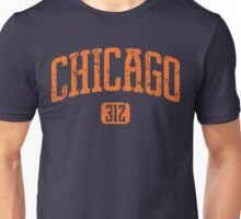 Chicago 312 (Orange Print) Unisex T-Shirt