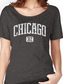 Chicago 312 (White Print) Women's Relaxed Fit T-Shirt