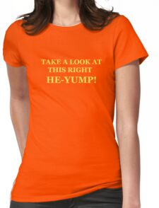 Neon Joe-- at this right he-yump Womens Fitted T-Shirt