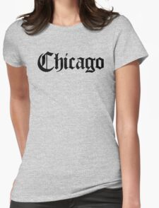 Chicago Gothic (Black Print) Womens Fitted T-Shirt