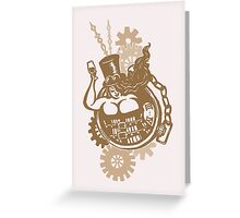 BBW - Buxom Steampunk Tart (sepia version) Greeting Card