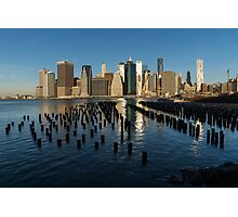Luminous Blue, Silver and Gold - Manhattan Skyline and East River Photographic Print