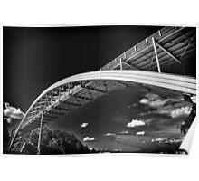 Rainbow bridge steel arch bridge in black and white architecture structure fine art photography wall art - Il ponte contro il cielo Poster
