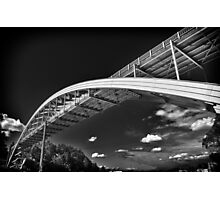 Rainbow bridge steel arch bridge in black and white architecture structure fine art photography wall art - Il ponte contro il cielo Photographic Print