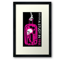 Sherlock - A Study in Pink Episode Poster Framed Print